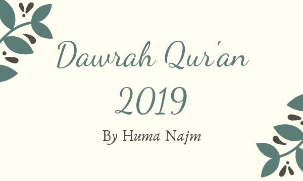 Ramadan Dawrah Qur'an - 2019