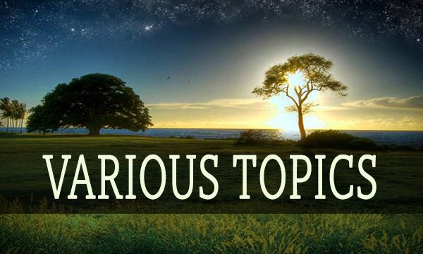 Various Topics