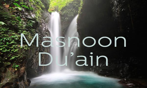 Masnoon Du'ain